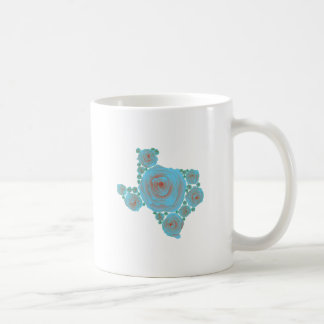 Texas Blue Rose Basic White Mug