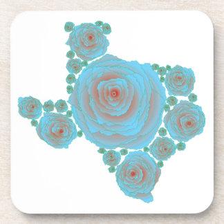 Texas Blue Rose Beverage Coasters
