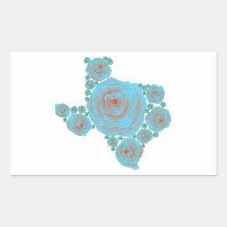 Texas Blue Rose Rectangular Sticker