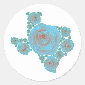 Texas Blue Rose Round Sticker