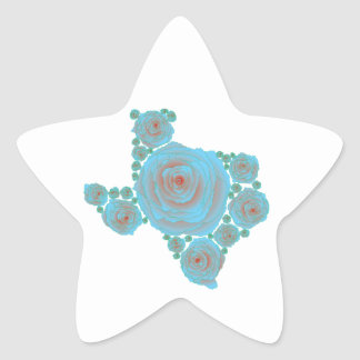 Texas Blue Rose Star Sticker