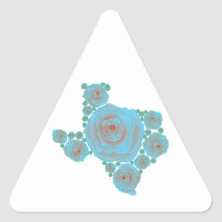 Texas Blue Rose Triangle Sticker