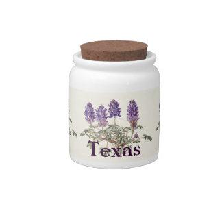Texas Bluebonnet Candy Jar