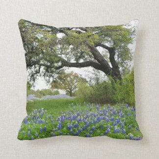 Texas Bluebonnet Throw Pillow Throw Cushions