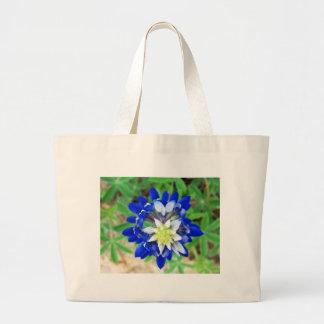 Texas Bluebonnet Top View Canvas Bags