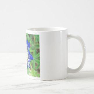 Texas Bluebonnet Top View Basic White Mug
