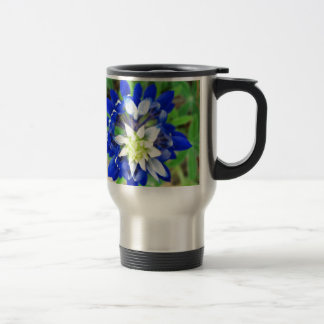 Texas Bluebonnet Top View Stainless Steel Travel Mug