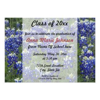 Texas Bluebonnets Field Photo Graduation Invites