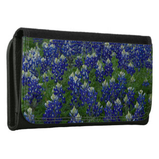 Texas Bluebonnets Field Photo Leather Wallet