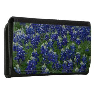 Texas Bluebonnets Field Photo Leather Wallet