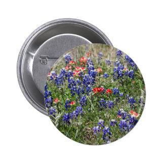 Texas Bluebonnets & Indian Paintbrush Wildflowers Pin
