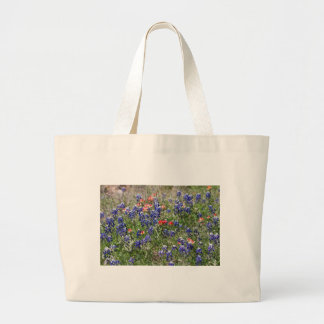 Texas Bluebonnets & Indian Paintbrush Wildflowers Tote Bag