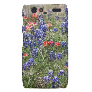 Texas Bluebonnets & Indian Paintbrush Wildflowers Droid RAZR Cases
