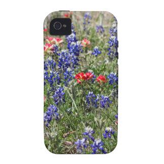 Texas Bluebonnets & Indian Paintbrush Wildflowers iPhone4 Case