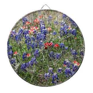 Texas Bluebonnets & Indian Paintbrush Wildflowers Dartboards