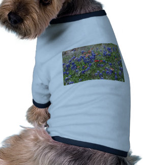 Texas Bluebonnets & Indian Paintbrush Wildflowers Doggie Shirt