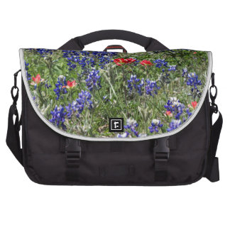 Texas Bluebonnets & Indian Paintbrush Wildflowers Bag For Laptop