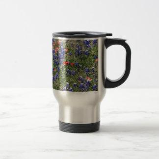 Texas Bluebonnets & Indian Paintbrush Wildflowers Mug