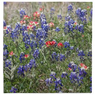 Texas Bluebonnets & Indian Paintbrush Wildflowers Napkins