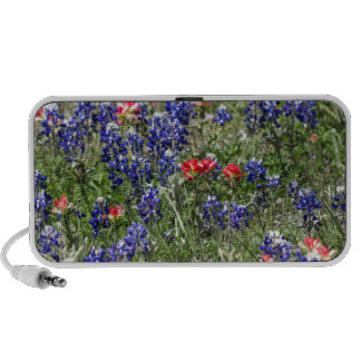 Texas Bluebonnets & Indian Paintbrush Wildflowers Laptop Speakers