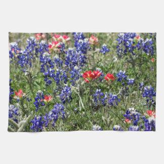 Texas Bluebonnets & Indian Paintbrush Wildflowers Kitchen Towels