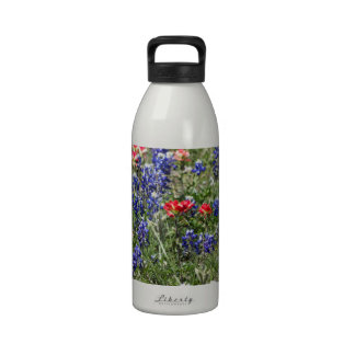 Texas Bluebonnets & Indian Paintbrush Wildflowers Water Bottle