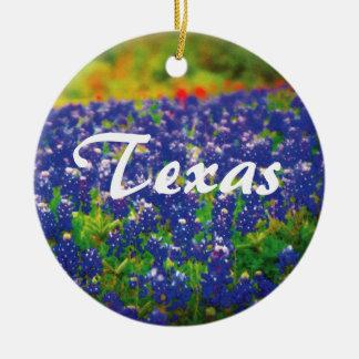 Texas Bluebonnets Round Ceramic Decoration