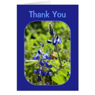 Texas Bluebonnets Thank You Greeting Card