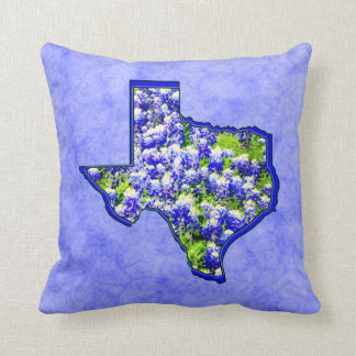 TEXAS BLUEBONNETS THROW CUSHION