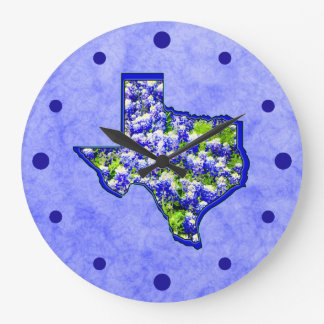 TEXAS BLUEBONNETS WALLCLOCK