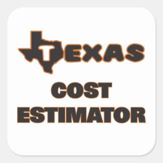Texas Cost Estimator Square Sticker
