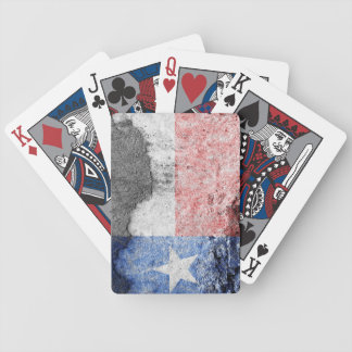 texas flag brick wall bicycle playing cards