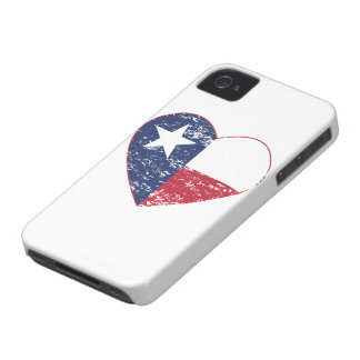 Texas Flag Heart Distressed iPhone 4 Case