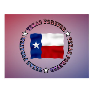 TEXAS FOREVER Circle Design - Mult_Products Postcard