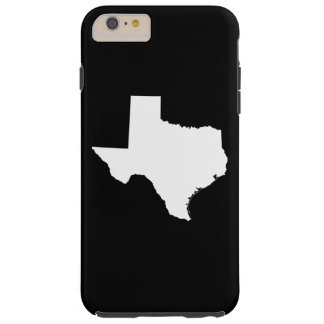 Texas in White and Black Tough iPhone 6 Plus Case