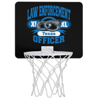 Texas Law Enforcement Officer Handcuffs Mini Basketball Hoop