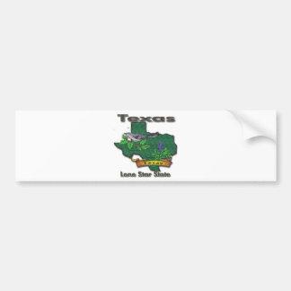 Texas Lone Star State Bird Flower Bumper Sticker