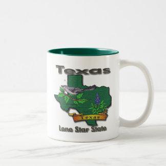 Texas Lone Star State Bird Flower Mug