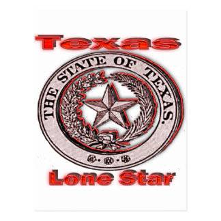 Texas Lone Star State Seal Post Card