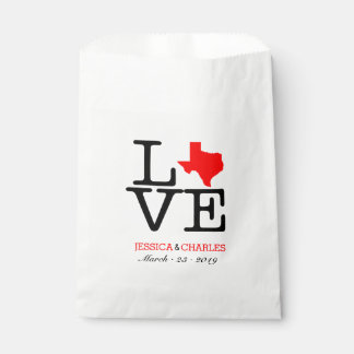 Texas Love Wedding Favor Bags Favour Bags