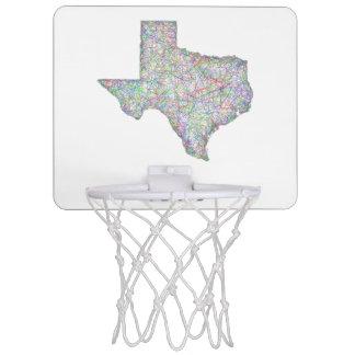 Texas map mini basketball hoop