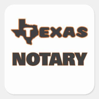 Texas Notary Square Sticker