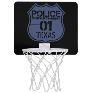 Texas Police Department Shield 01 Mini Basketball Hoop
