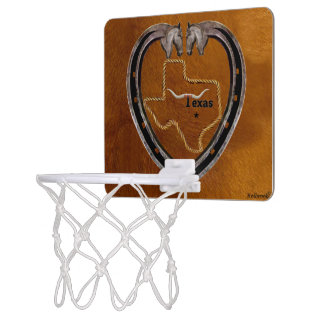 Texas Pride Mini Basketball Hoop