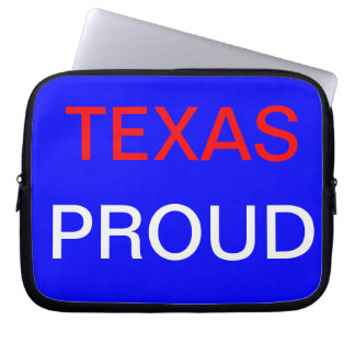 Texas proud laptop sleeve