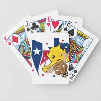 Texas Rodeo Smiley Bicycle Playing Cards