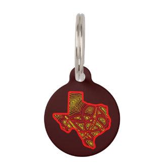 Texas Scribbleprint Pet Name Tag