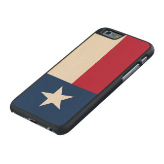 Texas State Flag Carved Maple iPhone 6 Case