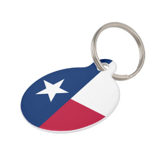 Texas state flag - high quality authentic color pet ID tag
