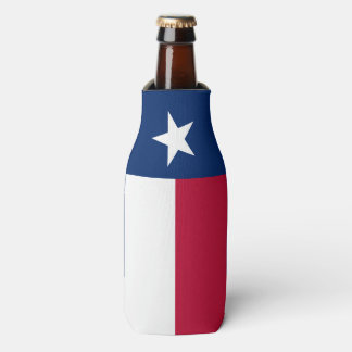 Texas state flag - high quality authentic colour bottle cooler